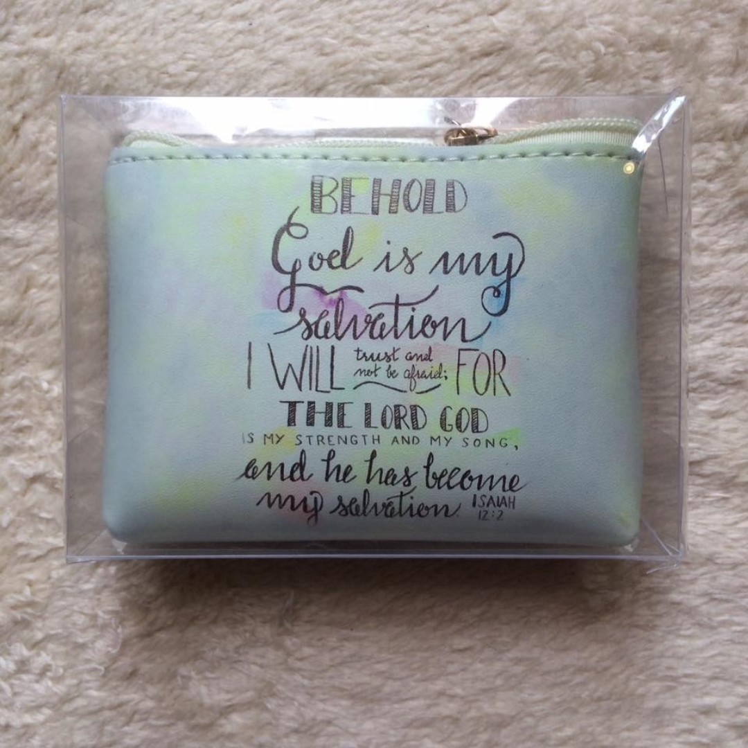 Bible Verse Coin Purse (Isaiah 12:2)