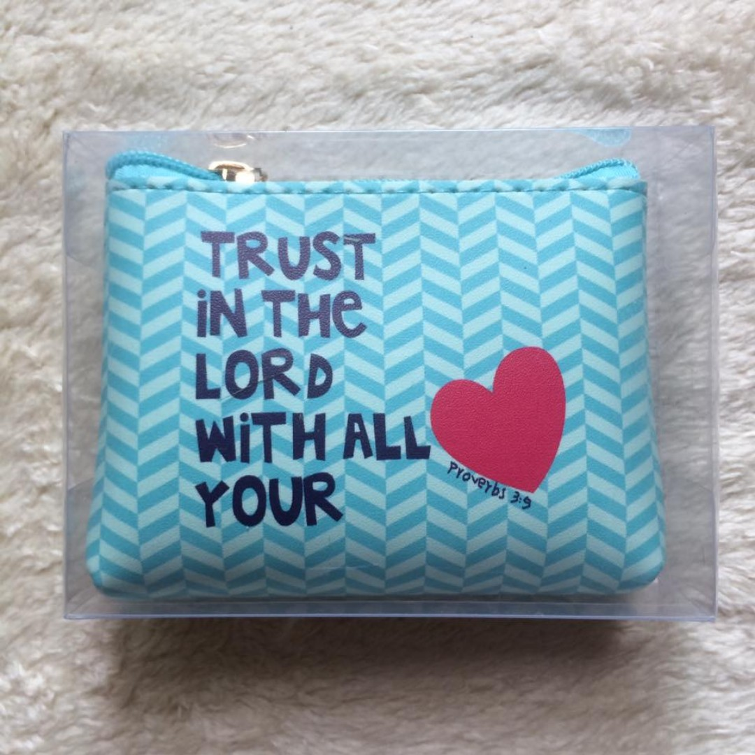 Bible Verse Coin Purse (Proverbs 3:5) (04)