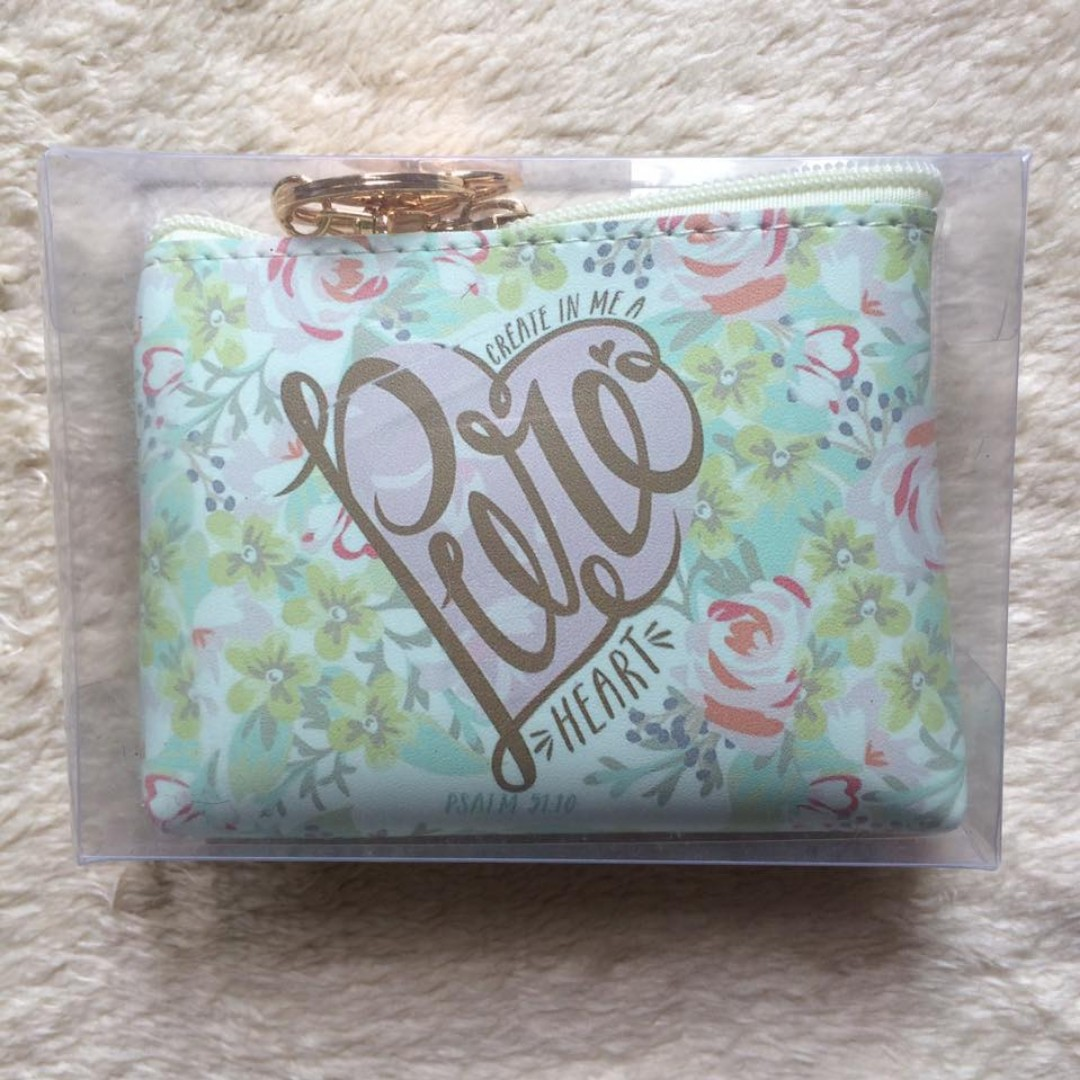 Bible Verse Coin Purse (Psalm 51:10)