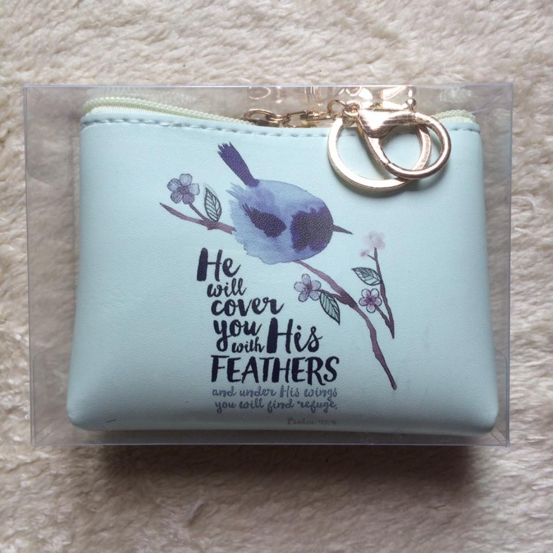 Bible Verse Coin Purse (Psalm 91:4)