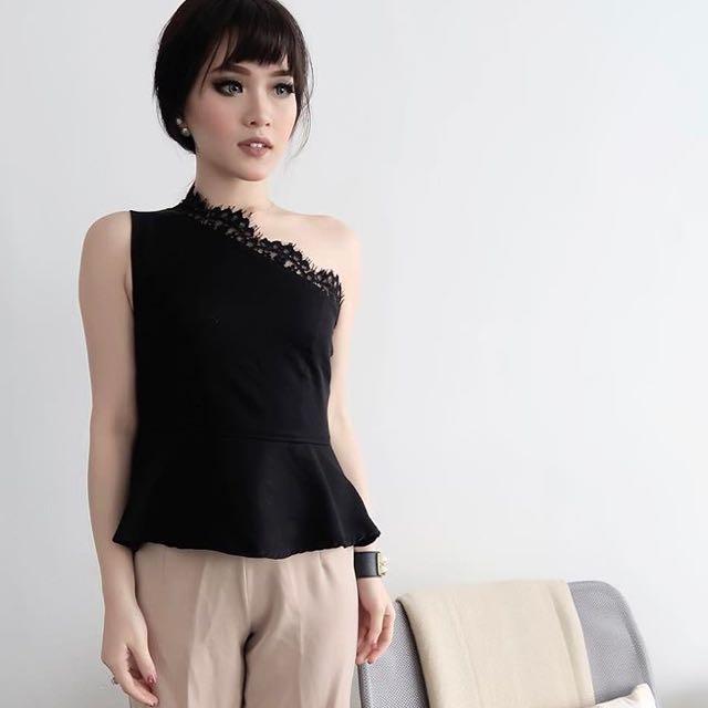 black blouse lace