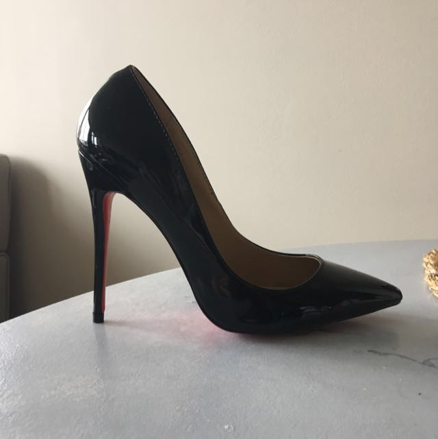Black Glossy Red Bottoms