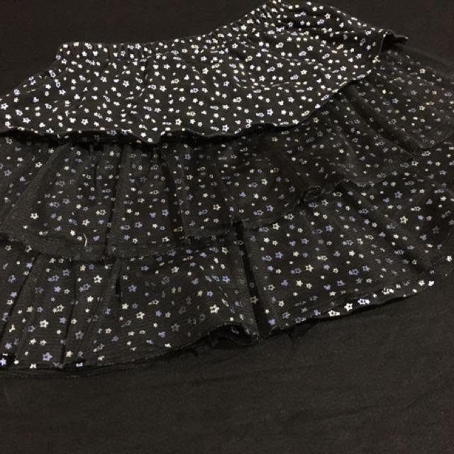 Black Layered Skirt