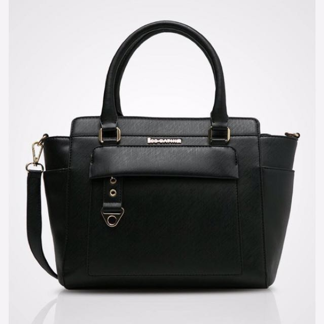 Black Satchel Les Catino Bag