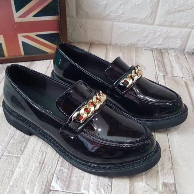 Black shoes size 36 baru