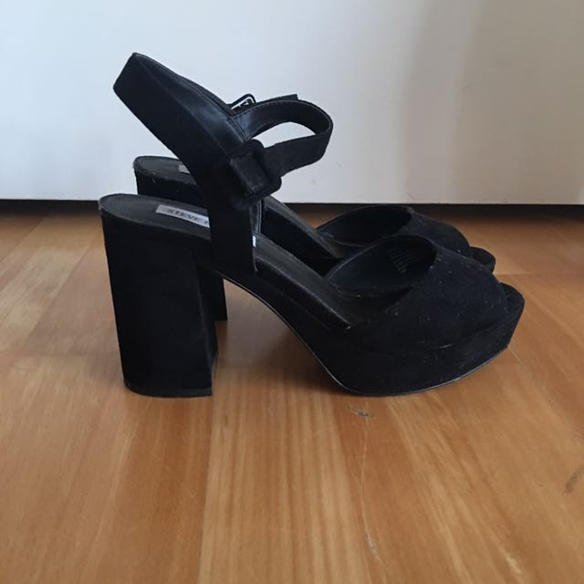 Black Steve Madden Suede heels