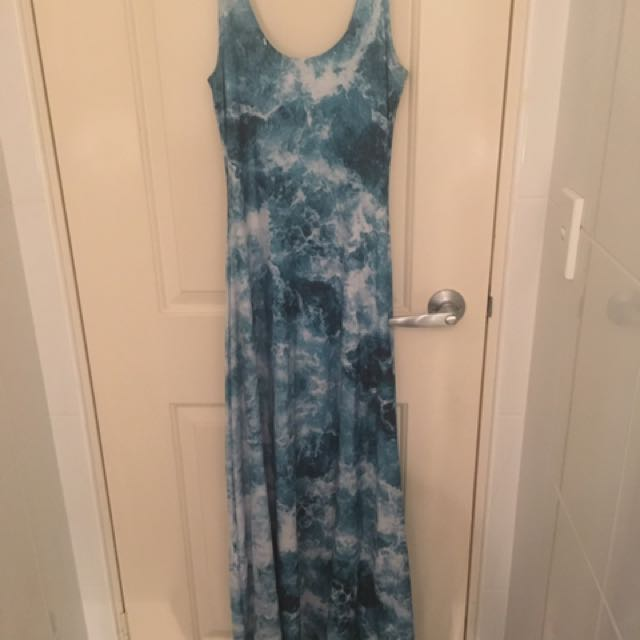 Blackmilk medium Fantasea maxi dress
