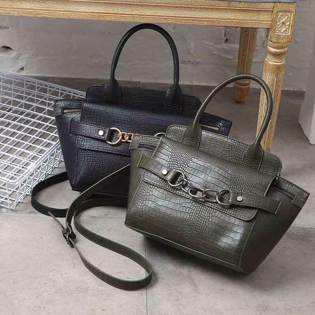 Blanco croco sling bag