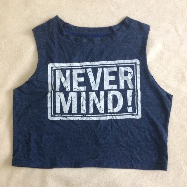 Blue Croped Muscle Tee