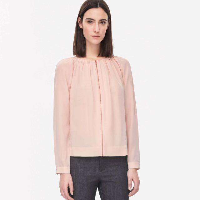 6402f3429329d0 BNWT COS Zip-up Silk Top (price nego)