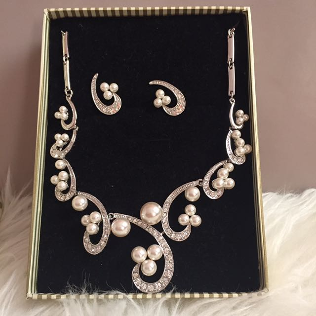 Brand New In Box Earring And Necklace Set