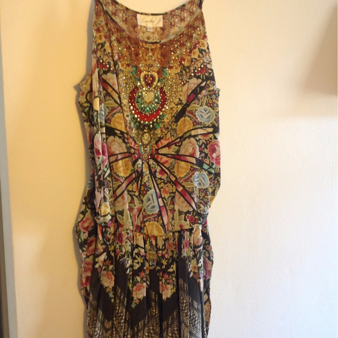 Camilla Flamenco Sweep Playsuit Sz 3