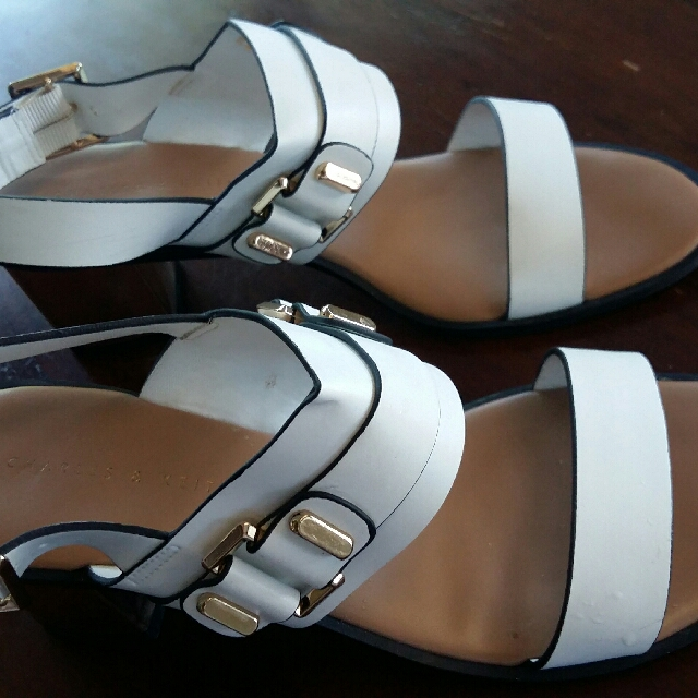 Charles & Keith Open Toe Sandals With Heels