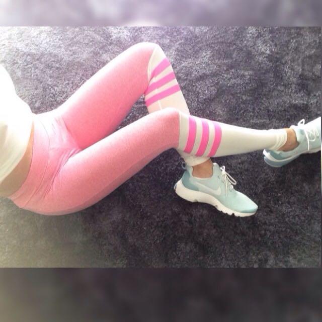 Fitness Gym Sock Leggings as seen at Bombshell Sportswear