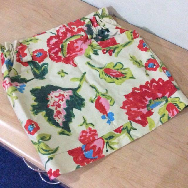 Floral Mini-skirt