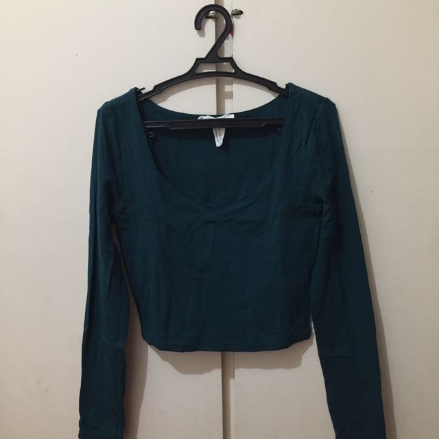 FOREVER21 BLUE GREEN TOP