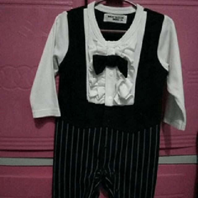gentleman suit romper