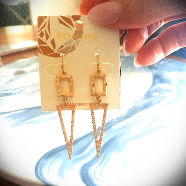 Gold Abstract Drop Earrings