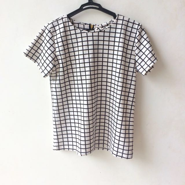 Grid Printed Shirt