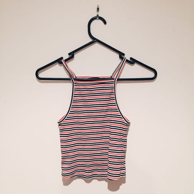 High Neck Crop Top Size Small