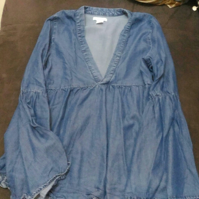 H&M Denim Boho Top Never Used