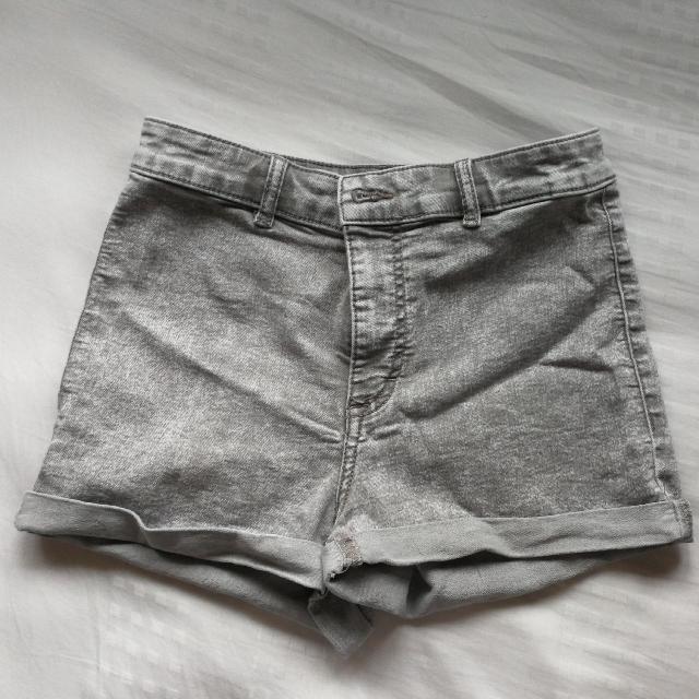 H&M Grey Highwaisted Shorts