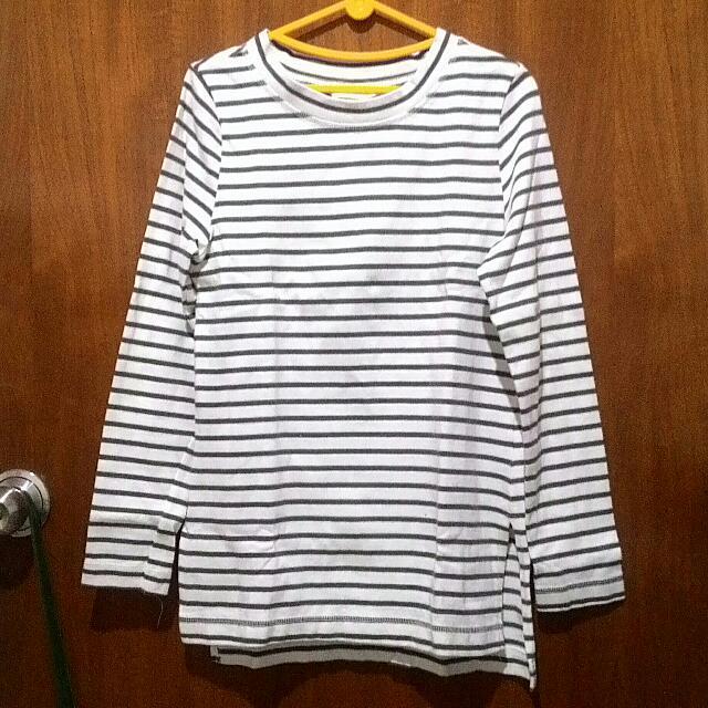 H&M Stripe Top Long Sleeve