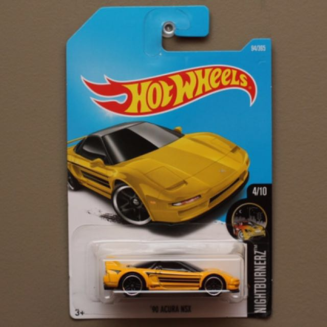 Hotwheels 90 S Yellow Acura Nsx Toys Games Bricks Figurines On