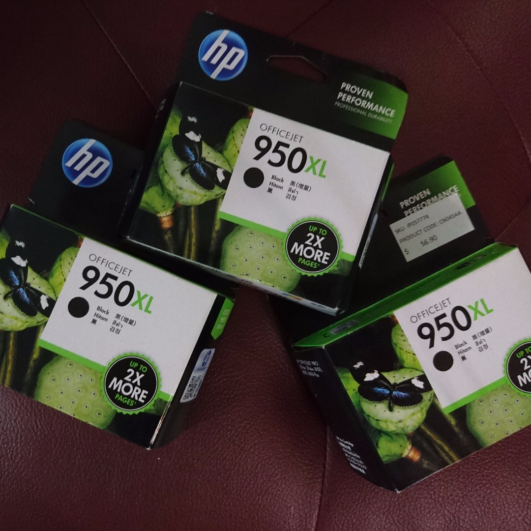 Hp Officejet Ink 950xl Black Electronics Computer Parts Mouse Dell Usb Branded Hitam Accessories On Carousell