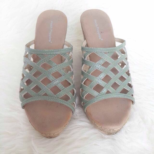 Hush Puppies Mint Wedges