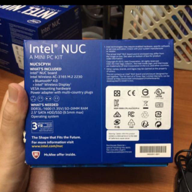 Intel NUC NUC5CPYH mini pc HT kits, Electronics, Computer