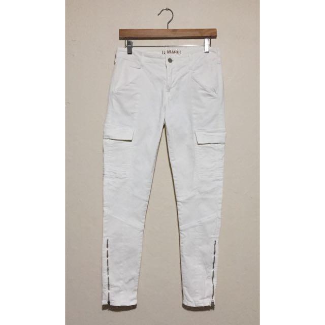 J Brand - White Cargo Pants