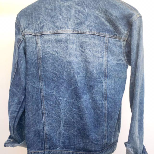 Jaket Denim Washed clothing brand Trust