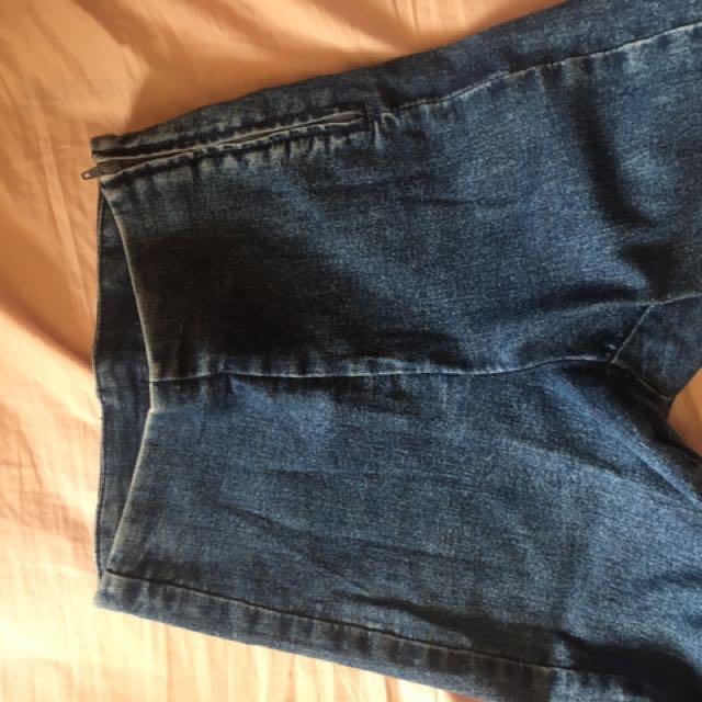 Jeans high waist skinny size 6