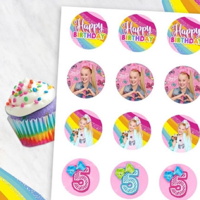 Jojo Siwa Cupcake Toppers Babies Kids Girls Apparel On Carousell