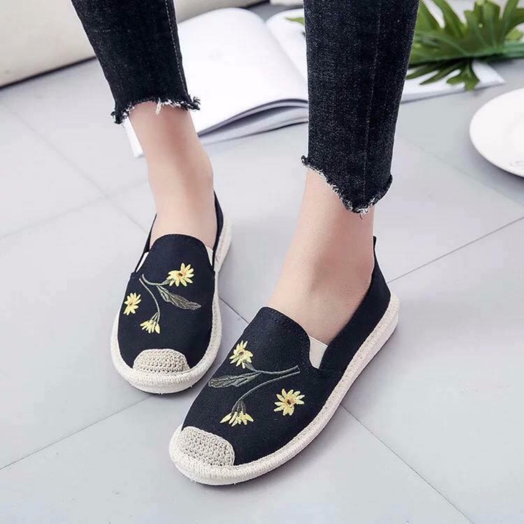 Korea fashion Espadrille Tela shoes