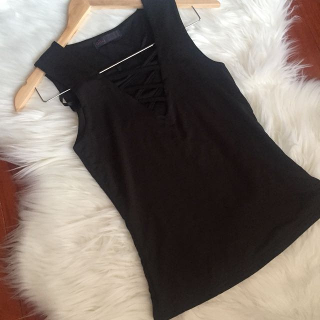 Laceup style top