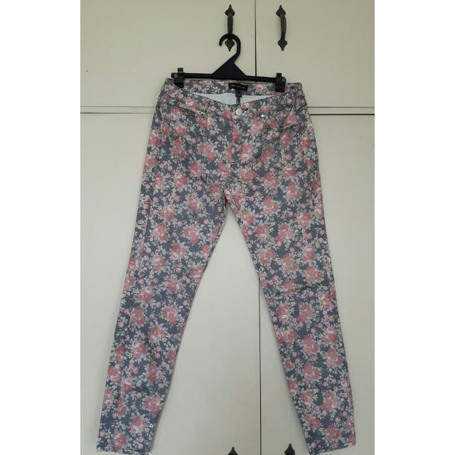 mango floral pants