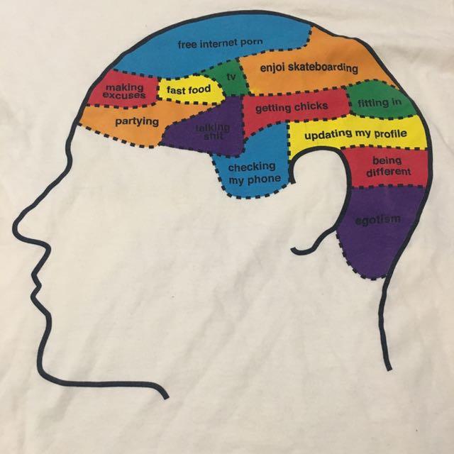 Men's Enjoi Skateboarding Brain T-Shirt