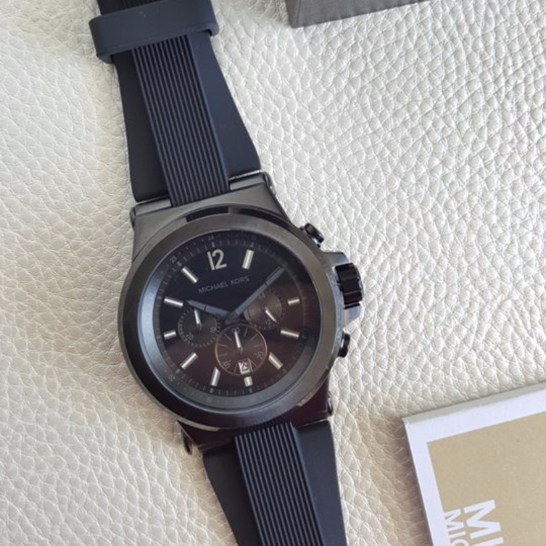 8007f3c87330 Authentic Michael Kors Dylan Chronograph Rubber Oversized 48mm ...