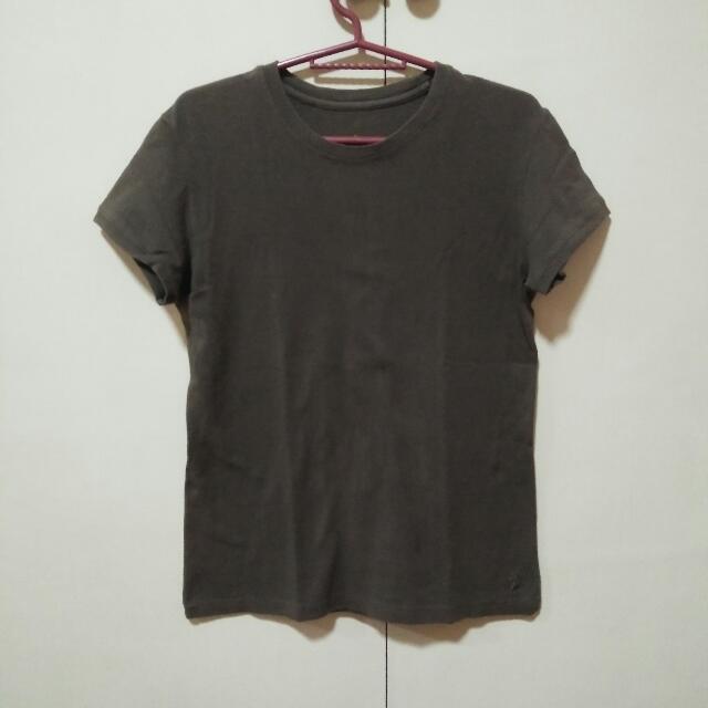Military Green Plain Shirt (Folded & Hung)