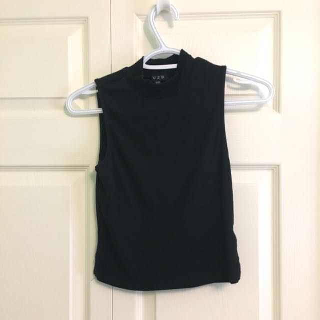 Mock Turtleneck Tank Top M
