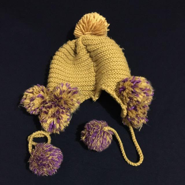 Mustard Yellow Knit Hat