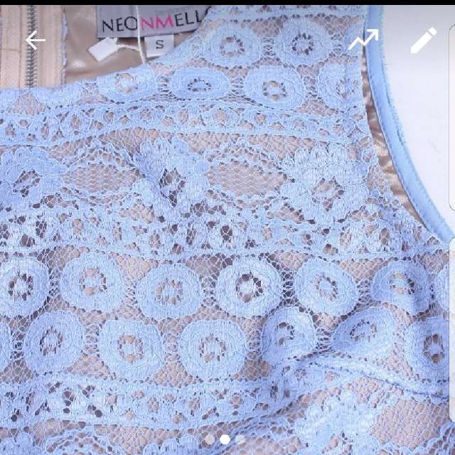 #1212 Neonmello Edelweiss Lace Panelling Midi In Sky (Size S)