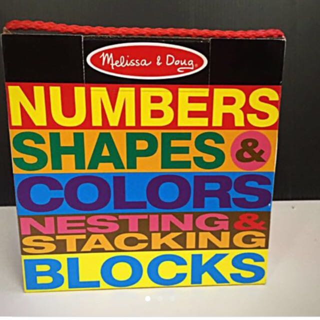 Melissa Doug Nesting And Stacking Blocks Numbers And