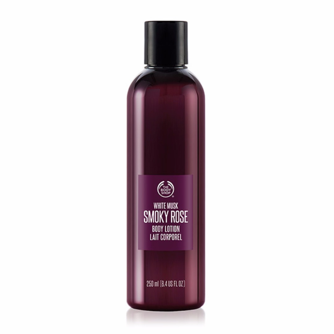 Original The Body Shop BODY LOTION White Musk Smoky Rose 250ml