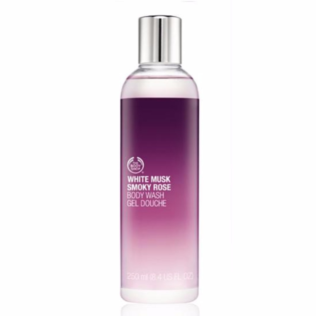 Original The Body Shop Body Wash White Musk Smoky Rose 250ml