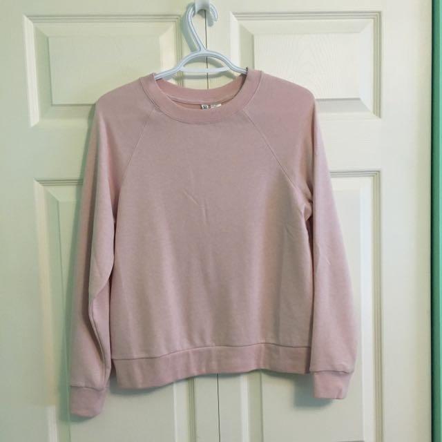 Pastel Pink Sweatshirt H&M Small