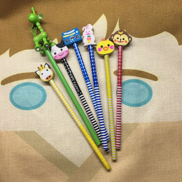 Pencils with Eraser toppers