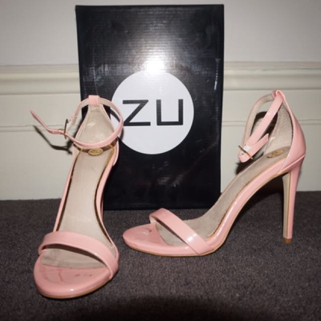 Pink Strappy Heels - Size 7